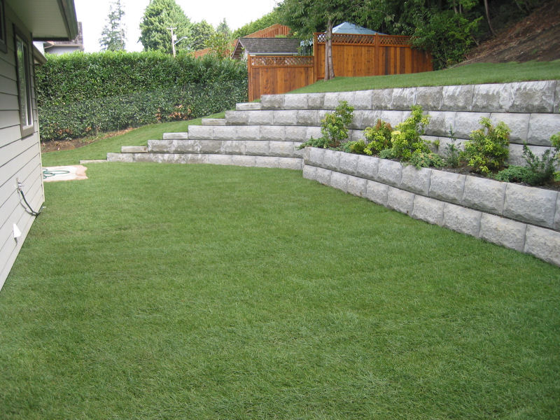 retaining wall project example