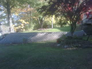 Retaining Wall Landscape Design | Back Yard | Dever's Lawn