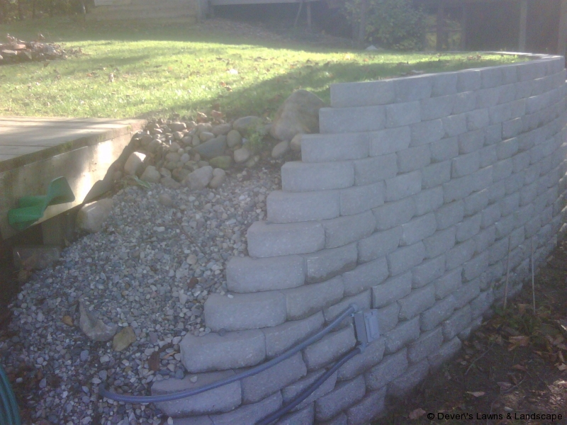 Retaining Wall-End View