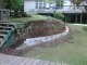 Begining Stages of Retaining Wall Construction