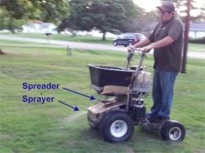 Combo Precision Pesticide Sprayer & Fertilizer Spreader Machine