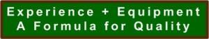 Landscape Maintenance Service Quality Formula